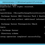 Preparing a Windows 2012R2 domain for Exchange 2013